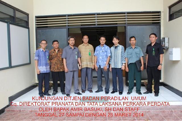 Kunjungan Ditjen Badan Peradilan Umum ke Pengadilan Negeri Tahuna