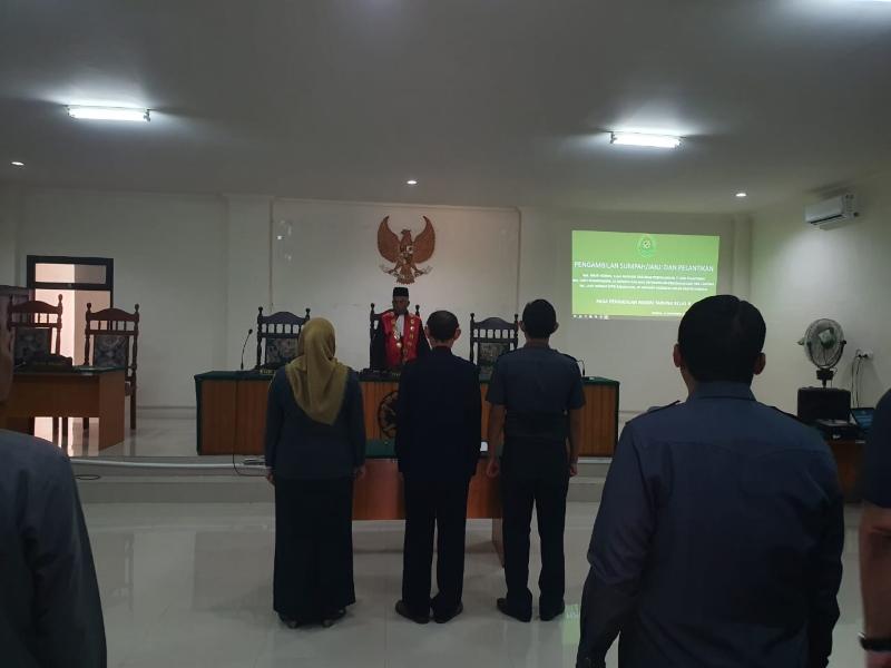 Pelantikan Pejabat Struktural Kesekretariatan Pengadilan Negeri Tahuna Tahun 2019