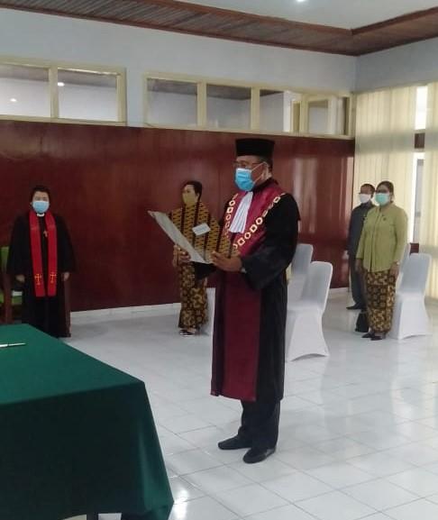 Pengambilan Sumpah, Pelantikan, dan Serah Terima Jabatan Ketua Pengadilan Negeri Tahuna