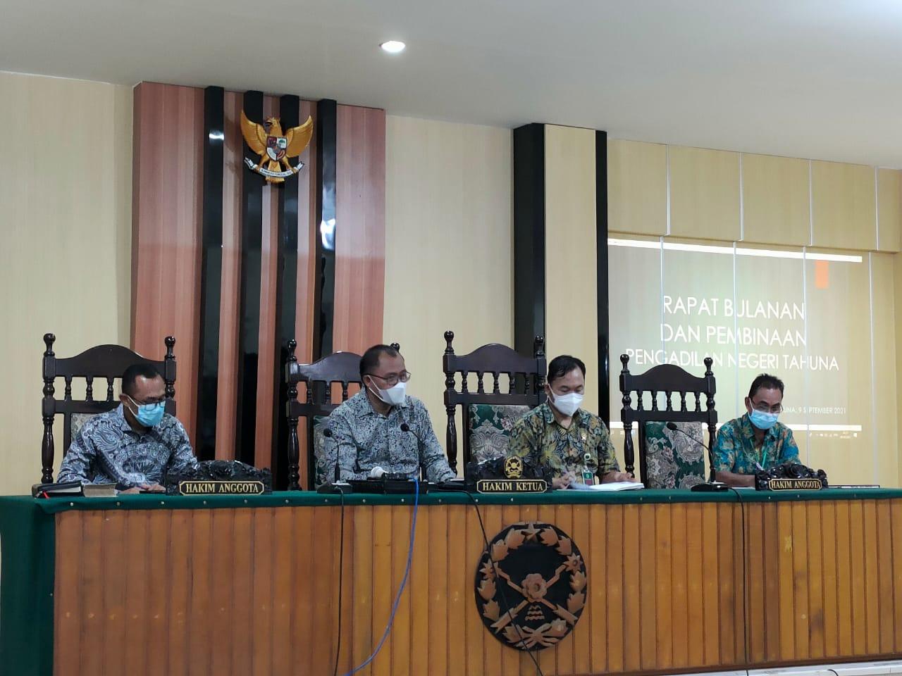 Rapat dan Pengawasan Bulanan Pengadilan Negeri Tahuna